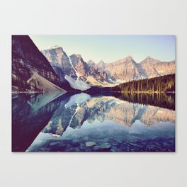 Moraine Lake Reflection Canvas Print