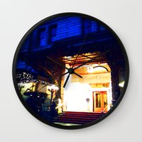 outdoor Wall Clocks featuring In Through the Outdoor~ New York City by 13th Moon Social Club