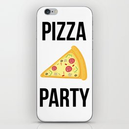 Pizza Party Funny Slice Design iPhone Skin