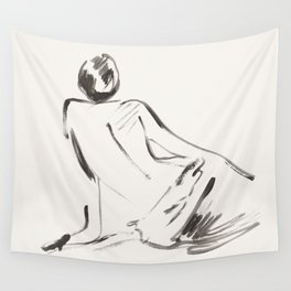 nude woman Wall Tapestry