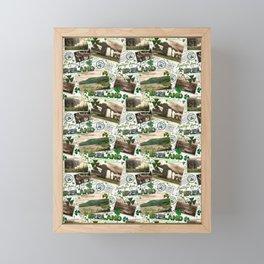 Vintage Postcards, Greetings From Ireland Framed Mini Art Print