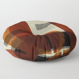 """Abstract Ships at Sunset"" Floor Pillow"