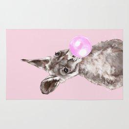 Bubble Gum Baby Kangaroo Rug
