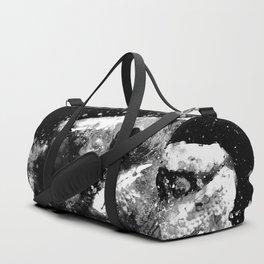perfect chameleon black white Duffle Bag