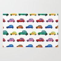 cars Area & Throw Rugs featuring Italian cars  by Katerina Izotova Art Lab