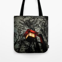 lantern Tote Bags featuring Lantern by A Dostert