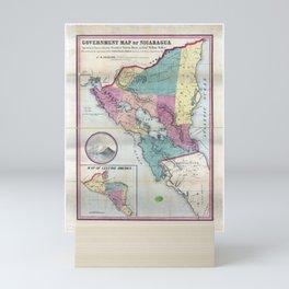 Map of Nicaragua (1856) Mini Art Print
