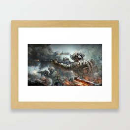 US Marines Devil-Dogs are marching on Framed Art Print
