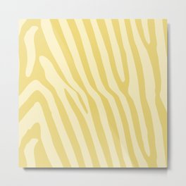 Yellow Animal Stripes Metal Print