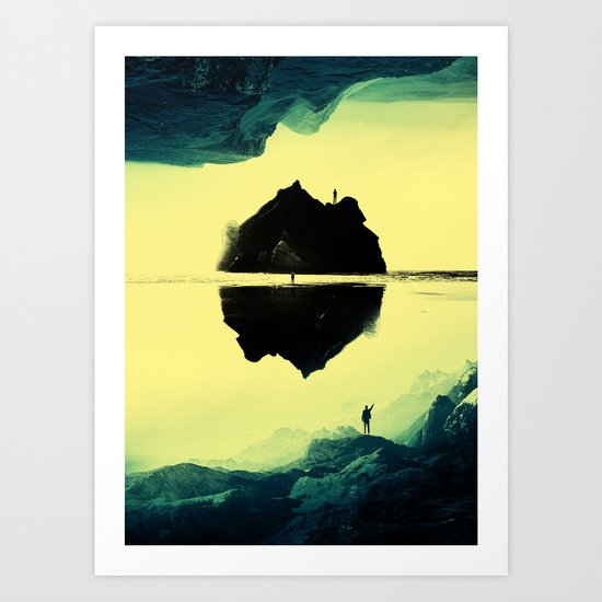 Triple Isolation in Green Art Print