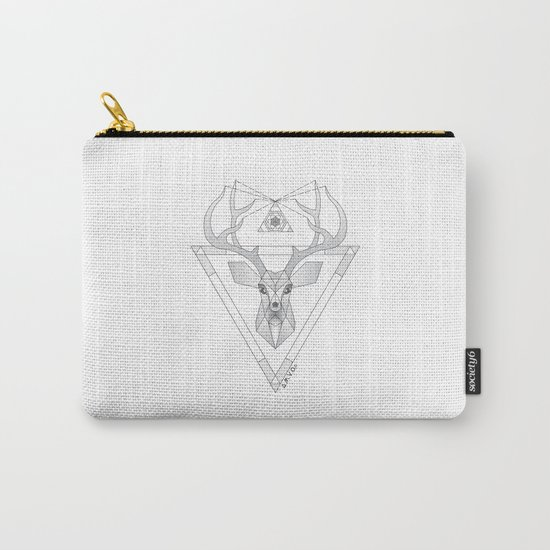Geometric Deer Carry-All Pouch