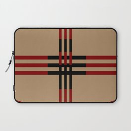 Red and Taupe Fall Design Laptop Sleeve