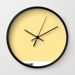 PANTOMIME - wild yellow bird Wall Clock