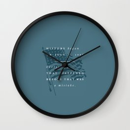 P + R History Wall Clock