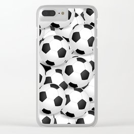 SOCCER BALLS LOTS OF SOCCER BALL Clear iPhone Case