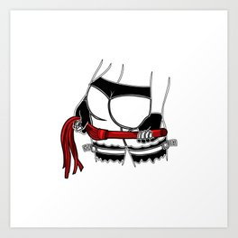 mistress dominatrix whip stockings thong bdsm Bondage Art Print