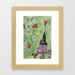 dwarf and his coffee pot Framed Art Print