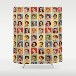 Film Stars Shower Curtain