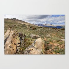 Rocky Mountain Tundra and Clouds Canvas Print