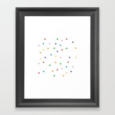 Candy Spots Framed Art Print