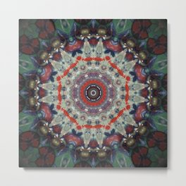Candy Land Mandala Metal Print