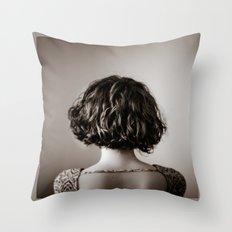 look away. Throw Pillow