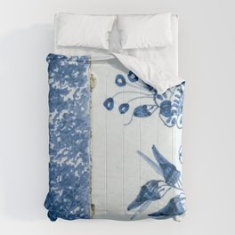 Old traditional Dutch blue Delftware tiles Comforters