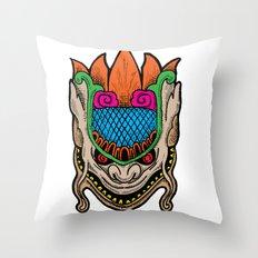 MASK MONSTER Throw Pillow
