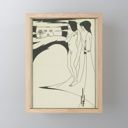 AUBREY BEARDSLEY Salome Oscar Wilde Woman - The Woman in the Moon Framed Mini Art Print