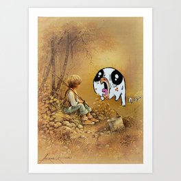 Snips, Snails, Sugar and Spice part 1 Art Print