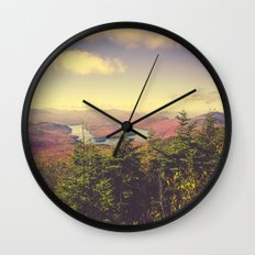 Endless Mountains Forever Wild Wall Clock