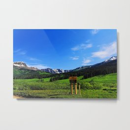 Gothic Campground Metal Print