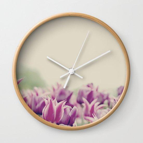 Tulips II Wall Clock