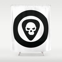 punk rock Shower Curtains featuring Punk, Rock & Ska by Howiesgraphics