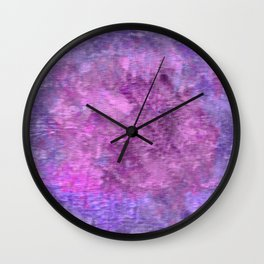 Pink and purple rough texture Wall Clock