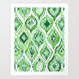 FROM WITHIN Green Moroccan Ogee Art Print