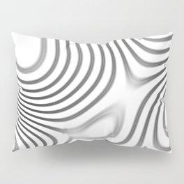 Organic Abstract 01 WHITE Pillow Sham