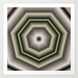 Polygon Auras in CMR 03 Art Print
