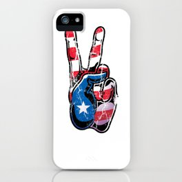 US Flag Hippie LGBT Peace Sign iPhone Case