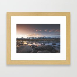 Grand Teton Sunset Framed Art Print