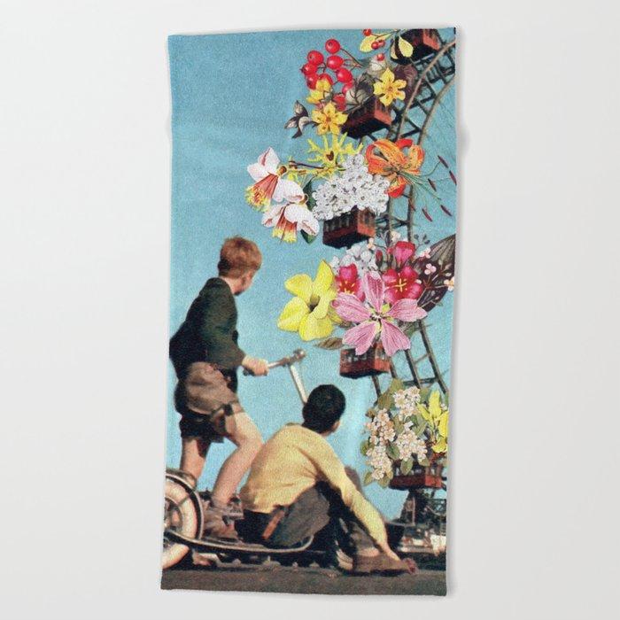 Bloomed Joyride Beach Towel