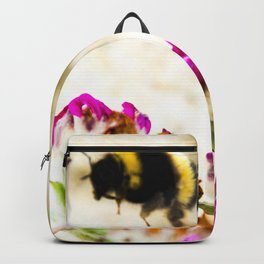 the flight of bumble bee on the dunes I Backpack
