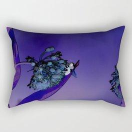 Blooming at Night (violet) Rectangular Pillow