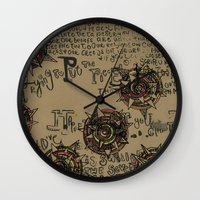 quotes Wall Clocks featuring Quotes by Aubree Eisenwinter