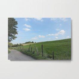 "Scenic German Countryside ""Bergisches Land"" Metal Print"