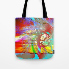 Rainbow Waves Tote Bag