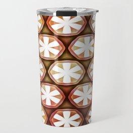 Autumn Flower Octagons Travel Mug