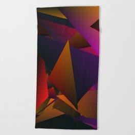 Smoke Screen Abstract 4 Beach Towel