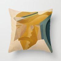 jesus Throw Pillows featuring Jesus by Riccardo Guasco