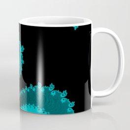 Burning Embers Blue - Fractal Art Coffee Mug